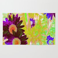 hippy Area & Throw Rugs featuring Hippy Power Neon Series  by RokinRonda