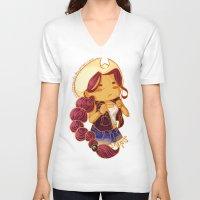 scorpio V-neck T-shirts featuring Scorpio by SinisterSquids