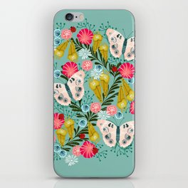 Buckeye Butterly Florals by Andrea Lauren  iPhone Skin