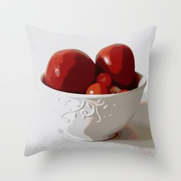 Tomatoes in Bowl | Still Life | Food Photography | Nadia Bonello Throw Pillow