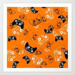 Video Game Orange Art Print