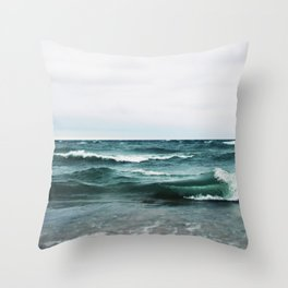 Turquoise Sea #2 Throw Pillow