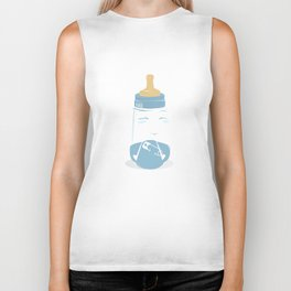 Baby bottle with diaper Biker Tank