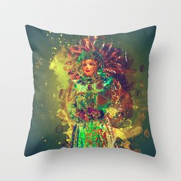 Abstract Carneval Throw Pillow