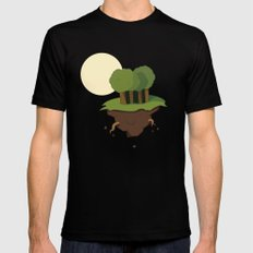 Forest Black MEDIUM Mens Fitted Tee