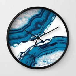 Blue Agate #2 #gem #decor #art #society6 Wall Clock