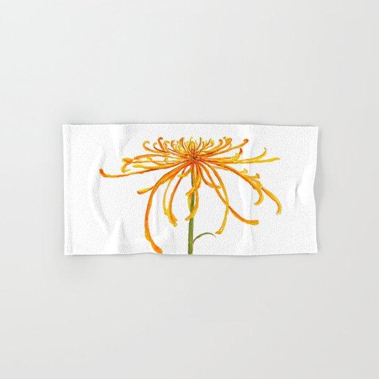 one orange chrysanthemum Hand & Bath Towel