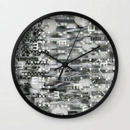 Atomic Bokeh (P/D3 Glitch Collage Studies) Wall Clock