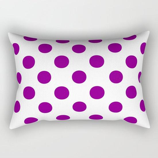 Polka Dots (Purple/White) Rectangular Pillow