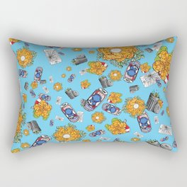 Dirtbag Staycation on Turquoise Rectangular Pillow