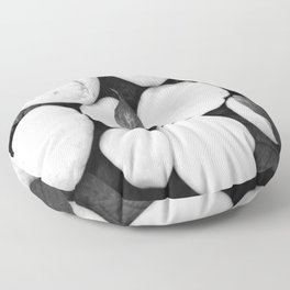 Zen White Stones On A Black Background #decor #society6 #buyart Floor Pillow