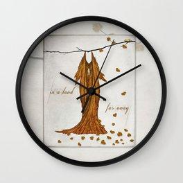 In a Land Far Away Fairie Dress  Wall Clock