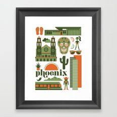 Phoenix in Sage Framed Art Print
