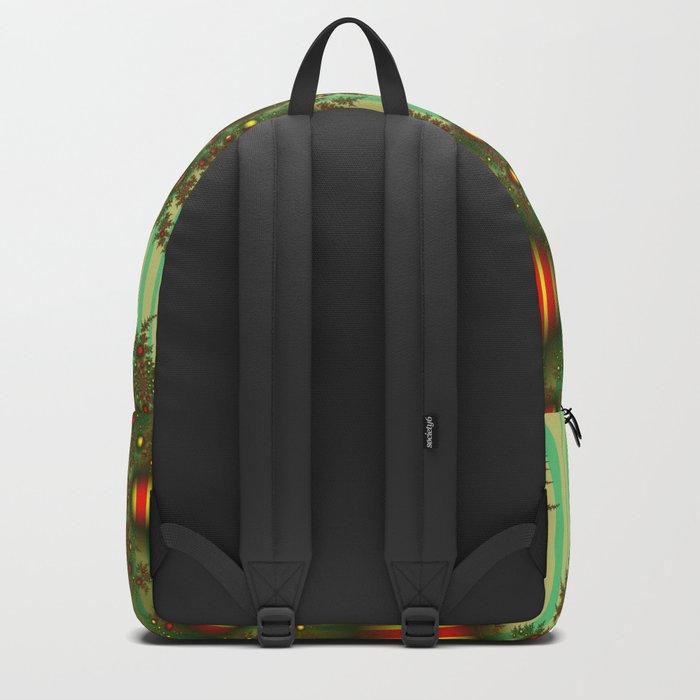 Vintage Christmas fractal Backpack