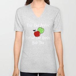 Apple T Shirt Halloween Fall Bob The Apples Before the Apples Bob You Unisex V-Neck