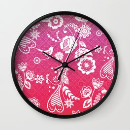 Birds, Flowers, etc. Wall Clock