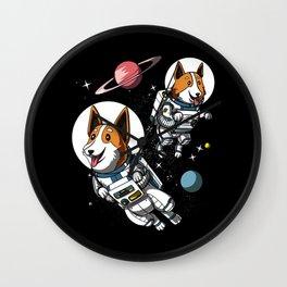 Space Corgi Astronaut Cosmic Dog Wall Clock