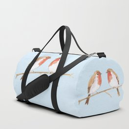 Two robins watercolor Duffle Bag