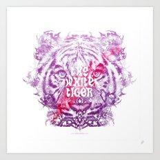 The White Tiger (Savage Version) Art Print