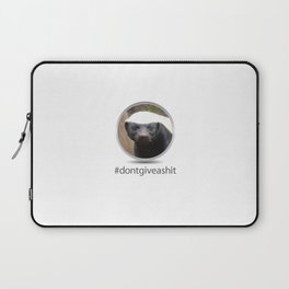OS XI Honey Badger don't give a shit. Laptop Sleeve
