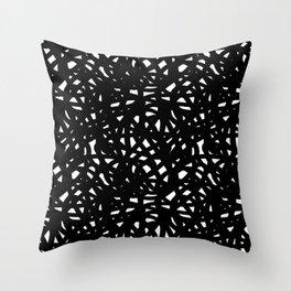 B&W Freeform Throw Pillow