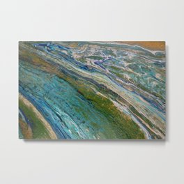 """""""The Flow"""". Modern artwork by Inessa Laurel. Metal Print"""