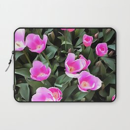 Delicate Pink Tulips Of Istanbul Laptop Sleeve