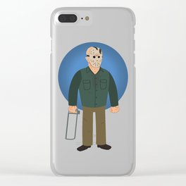 Jason Voorhees Friday the 13th Part 4 Clear iPhone Case