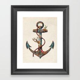 Lost at Sea - colour option Framed Art Print
