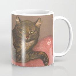 "Théophile Steinlen ""Winter Cat on a Cushion"" Coffee Mug"