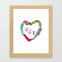 Custom Heart Wreath V & T Framed Art Print