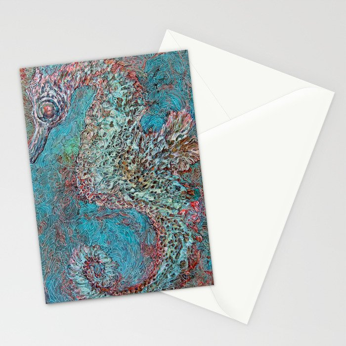 Seahorse in Glass Cradle Stationery Cards