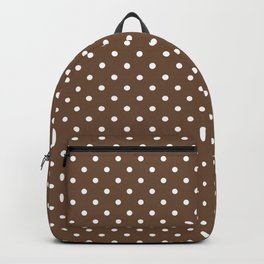 Dots (White/Coffee) Backpack
