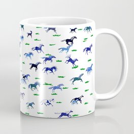 Blue Stampede Coffee Mug