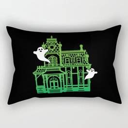 Haunted Victorian House Rectangular Pillow