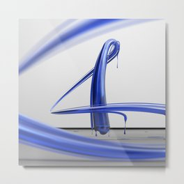Fluid Number Four Metal Print