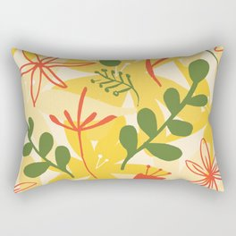 bold retro styled floral print Rectangular Pillow