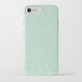 Mint Berry Branches iPhone Case