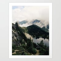 lake Art Prints featuring Eunice Lake by Kevin Russ