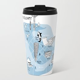 Mapping Vancouver - Blue Travel Mug