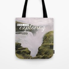 Gullfoss, Iceland - Never Stop Exploring Tote Bag