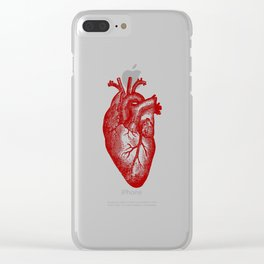 Vintage Heart Anatomy Clear iPhone Case
