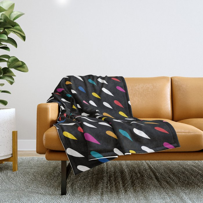 Bright Droplets Throw Blanket
