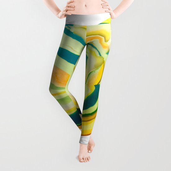 What The World Needs Now. Yellow Marble. Leggings