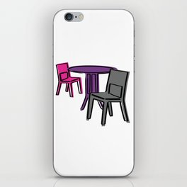 Table & Chairs 01 iPhone Skin