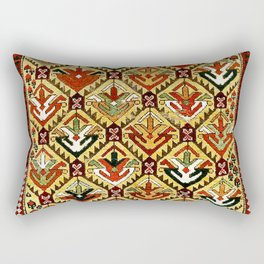 Shahsavan  Antique Moghan Caucasus Tribal Rug Rectangular Pillow
