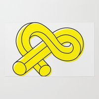 ampersand Area & Throw Rugs featuring Ampersand by MADEYOUL__K
