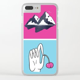 Lonesome When You're Around Clear iPhone Case
