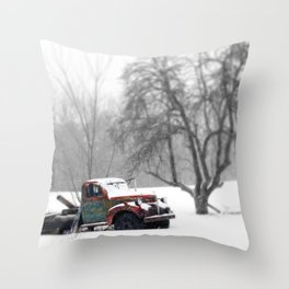 Vintage Field Truck 2 Throw Pillow