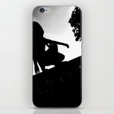 girl on a ledge iPhone & iPod Skin